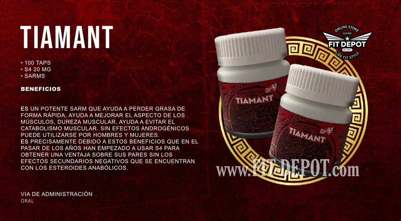 Tiamant (ANDARINE) 100 TAPS S4 20 MG | SARMS DRAGON PHARMA - SARM