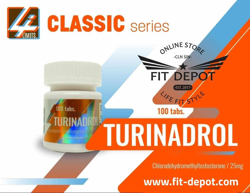 Turinadrol Chlorodehydromethyltestosterone 25 MG - / 100 TABLETAS | ESTEROIDES 4-LIMITS - FIT Depot de México