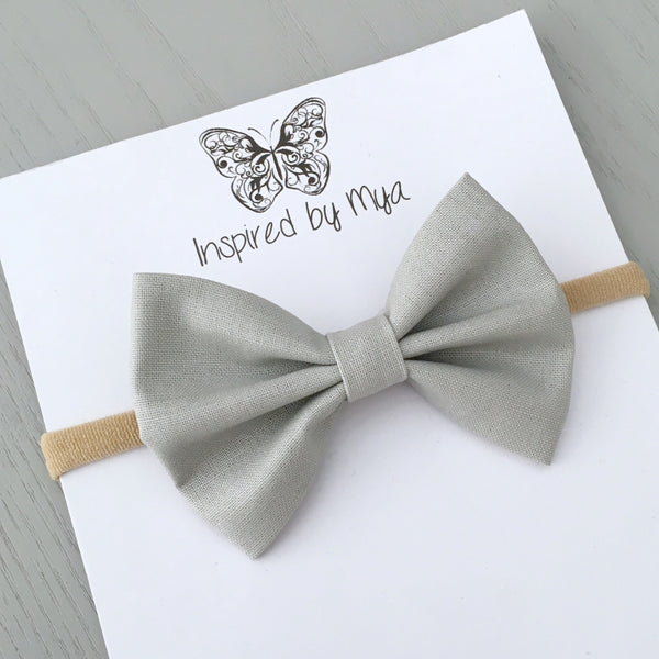 Layla Fabric Bow - Smoke
