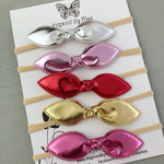 Knot Bow Set of 5 Headbands (no clips)