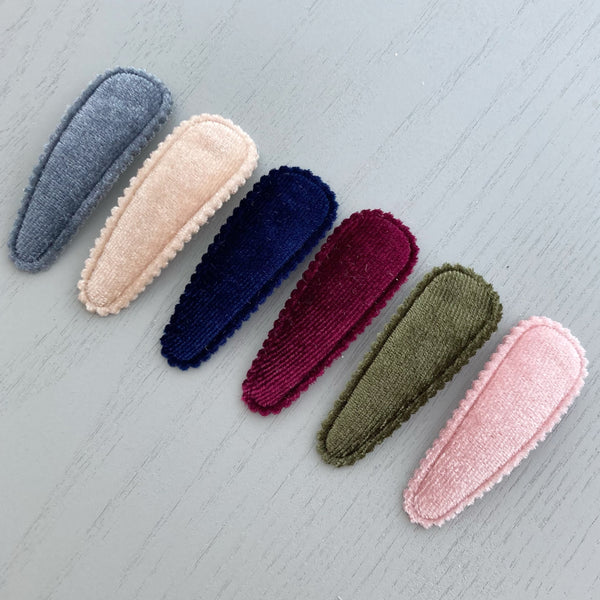 Velvet Fabric Snap Clip Set - 6cm
