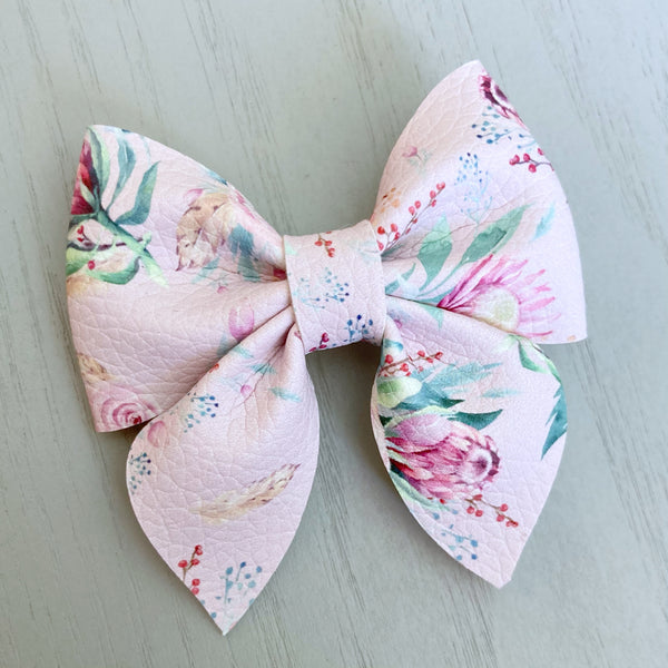 Small Everly Bow Clip - Floral