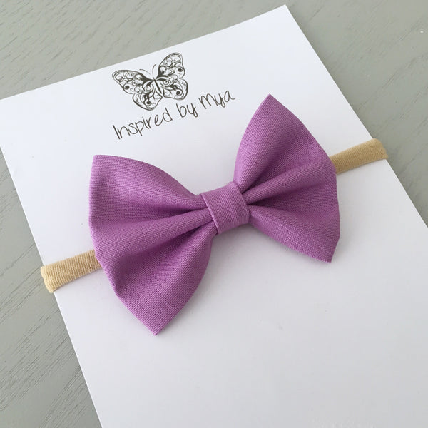 Layla Fabric Bow - Orchid
