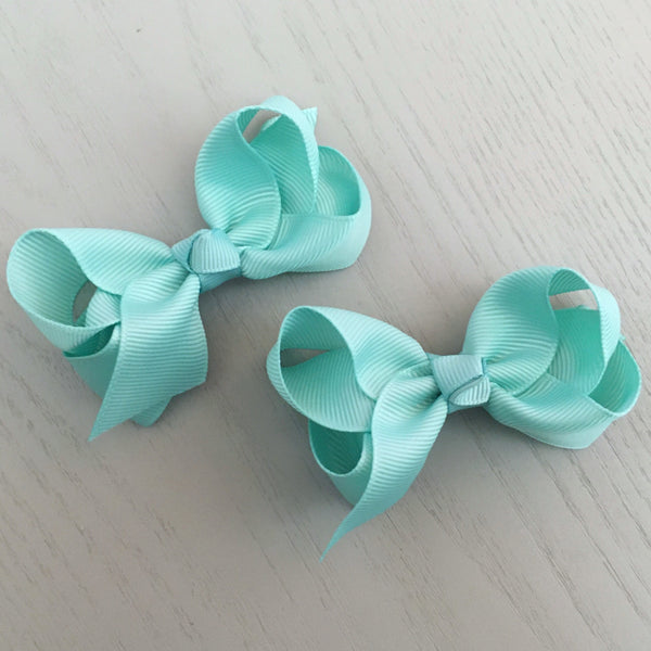 Boutique Bow Piggy Pair - Mint