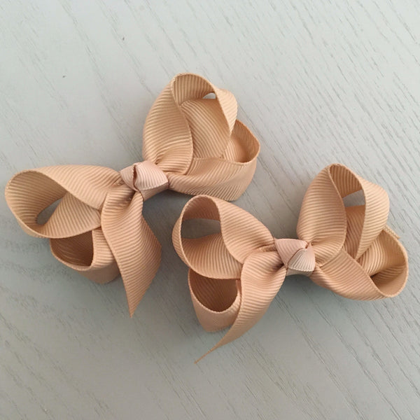 Boutique Bow Piggy Pair - Nude Tan