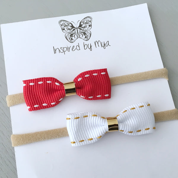 Christmas Small Bow Set - Headband Only