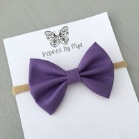 Layla Fabric Bow - Purple