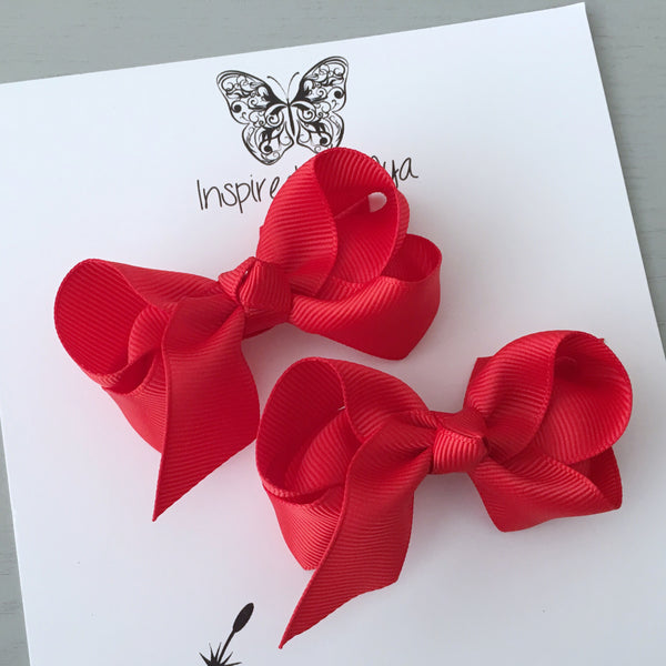 Boutique Bow Piggy Pair - Red