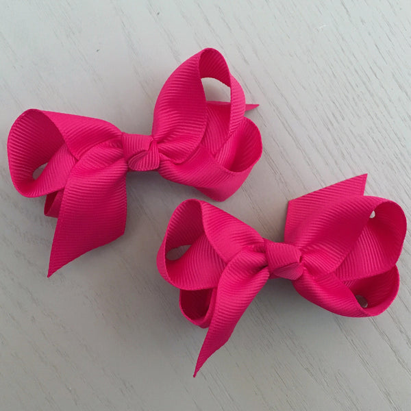Boutique Bow Piggy Pair - Magenta