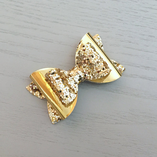 Small Pippa Bow - Gold Bling