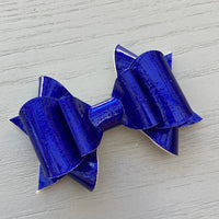 Small Antoinette Bow - Royal Blue Sparkles