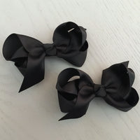 Boutique Bow Piggy Pair - Black