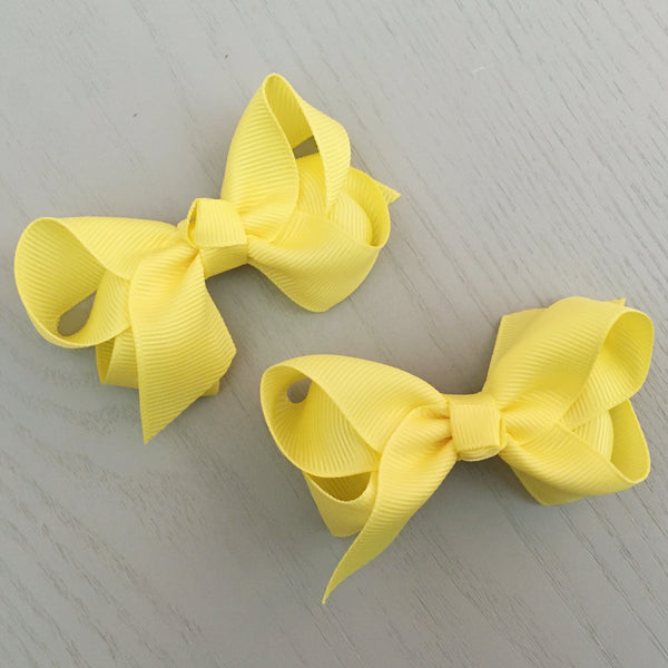 Boutique Bow Piggy Pair - Yellow
