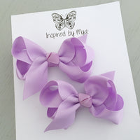 Boutique Bow Piggy Pair - Light Purple