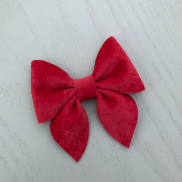 Small Everly Bow -  Red Velvet