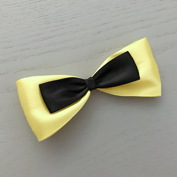 Large Yellow & Black Bow