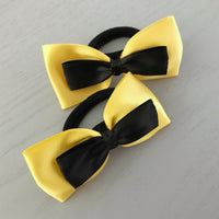 Yellow & Black Hair Tie Set