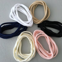 Soft Nylon Headbands - Set of 5
