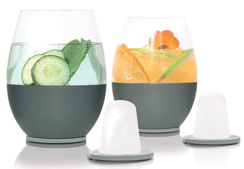 Dimple Self-chilling Stemless Wine Glasses