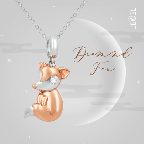 Diamond Fox Pendant