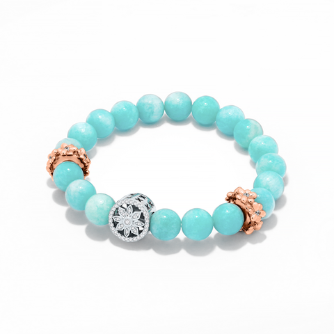 DAZZLING BLOOMS AMAZONITE BRACELET SET
