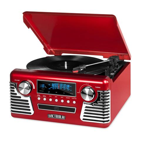 Victrola Retro Record Player with Bluetooth, CD Players and 3-speed Turntable