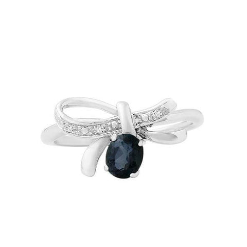 Sapphire Peace Ring
