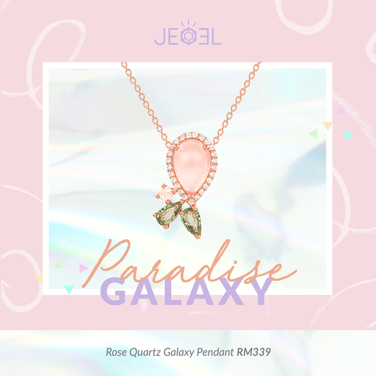 Rose Quartz Galaxy Pendant - JEOEL