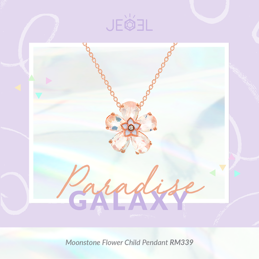 Moonstone Flower Child Pendant - JEOEL