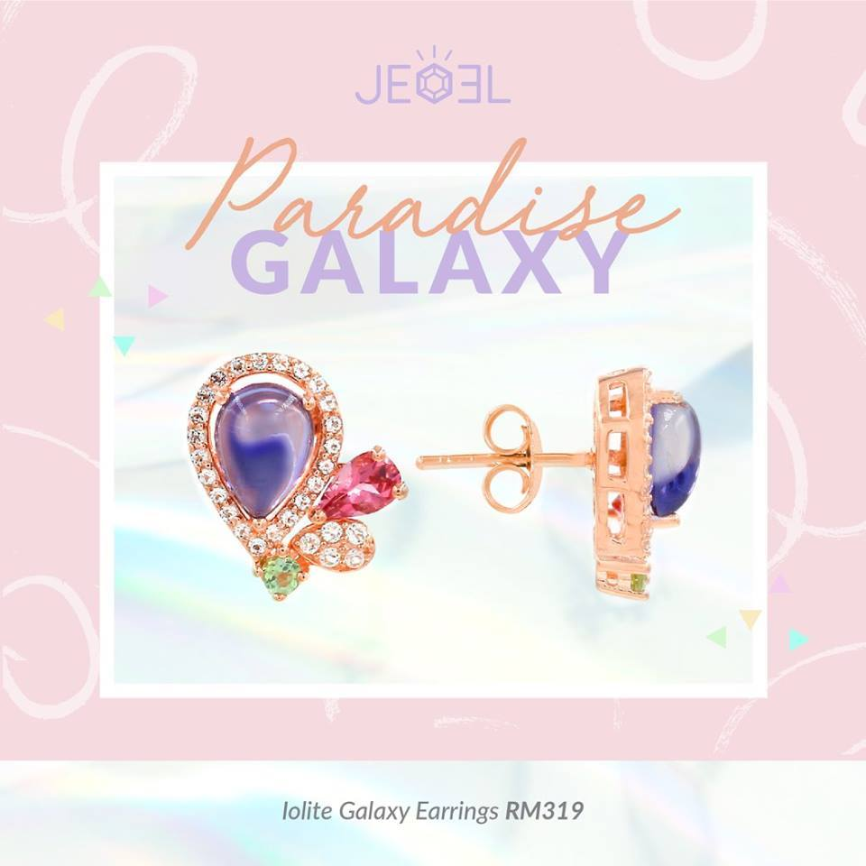 Iolite Galaxy Earrings - JEOEL