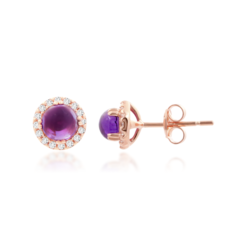 Amethyst Belle Earrings - JEOEL