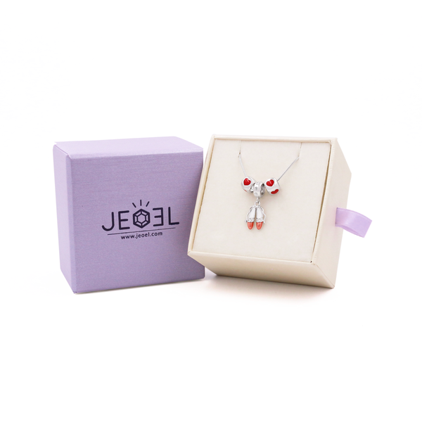 Ballerina Shoe Necklace Set - JEOEL