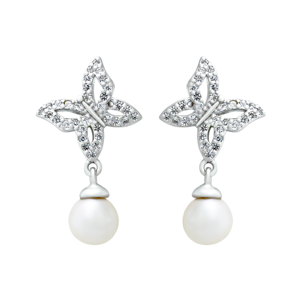Pearl Butterfly Earrings - JEOEL