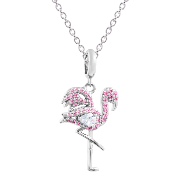 Flamingo charm + Spring Ring cable chain - JEOEL