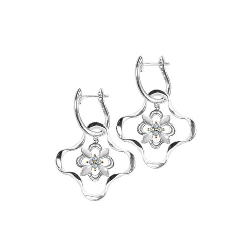 Kaleido Mini Flower Diamond Earrings - JEOEL