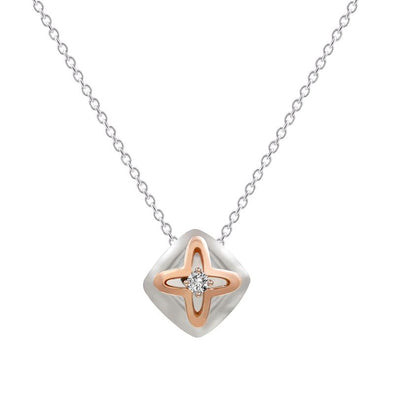 Diamond Cushion Pendant