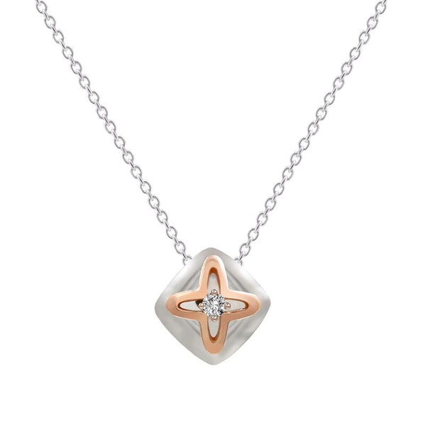 Diamond Cushion Pendant - JEOEL