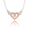Diamond Flying Kiss Necklace (Pendant + Chain) - JEOEL