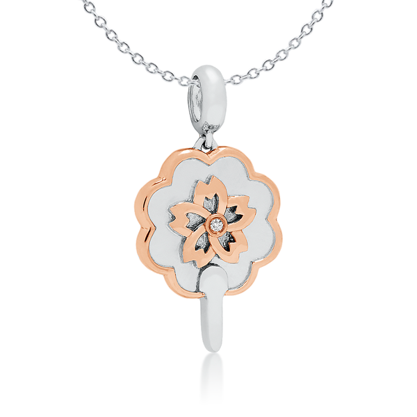 Diamond Flower Fan Pendant - JEOEL