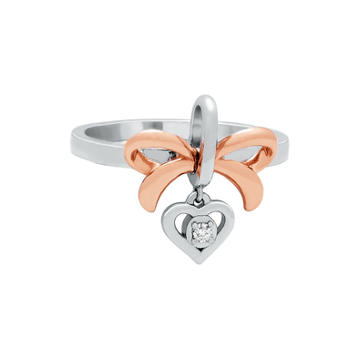 Love Knot Rose Ring Pendant