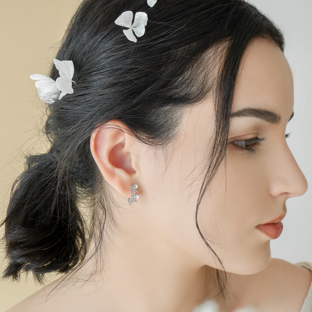 Snow Flower Earrings - JEOEL