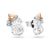 Diamond Penguin Earrings