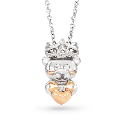 Diamond Bear Prince Necklace