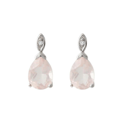 Rose Quartz Love Earrings - JEOEL