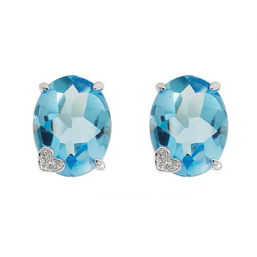 Topaz Ambition Earrings (Oval)