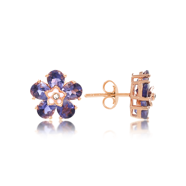 Iolite Flower Child Earrings - JEOEL