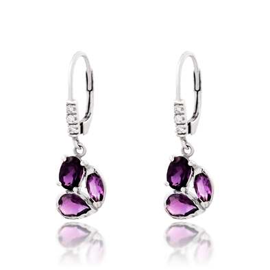 Amethyst Goddess Earrings - JEOEL