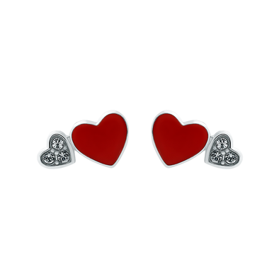 Enamel Heart Earrings - JEOEL