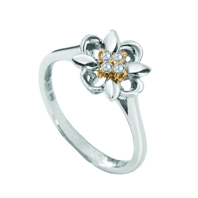 Kaleido Mini Flower Diamond Ring