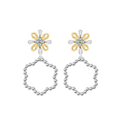 Kaleido Petals Diamond Earrings - JEOEL